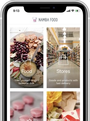 Namba Food: Food and Grocery Delivery App for Iphone.