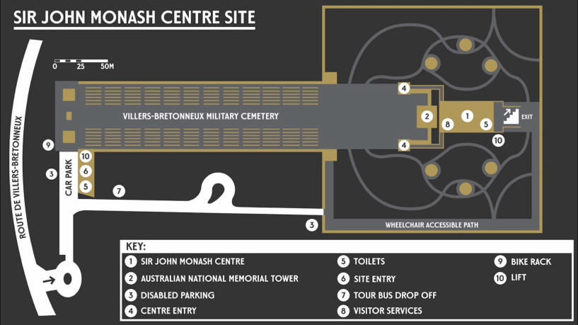 Sir Jonh Monash Centre Map.